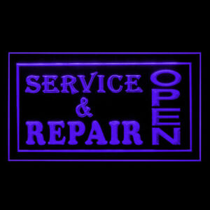 190011 OPEN Service & Repair Shop Display LED Light Neon Sign