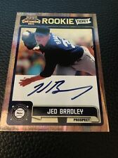 Jed Bradley Brewers  2011 Playoff Contenders Rookie Ticket Auto #RT37