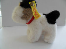Steiff dog fox terrier miniature button flag made in Germany 1777