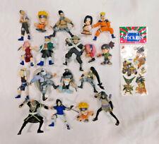 Anime Naruto Figures Toys Lot 18 Toys Bundle Loose Rare Vintage 2002 DBZ Sticker