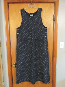 Directives Pullover Long Dress Overall Jumper Pockets Modest Size L
