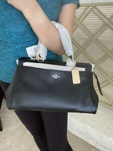 coach black satchel handbag