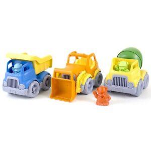Green Toys Eco-Friendly Construction Trucks Set - Set of 3