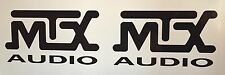 "(2) MTX audio car speakers stereo Amplifier Vinyl Decal Sticker 5""x2.75"" JDM"