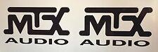 "(2) MTX audio car speakers stereo Amplifier Vinyl Decal Sticker 5""x2.75"" JDM"