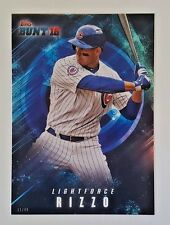 "2016 TOPPS BUNT ANTHONY RIZZO ""LIGHTFORCE"" 5X7 JUMBO ART CARD #/49 CUBS"