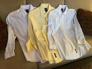 Lot of 3 Jos A Bank Mens Travelers Collection Dress Shirt 16 1/2 32 100% Cotton