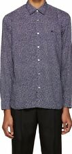 New $295 Burberry Brit Wilston Printed Navy Trim Fit Cotton Sport Shirt Men L