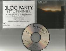 Bloc Party I still Remember 2 RARE EDITS PROMO Radio DJ CD Single USA MINT 2006