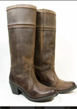 Frye Brown Leather Knee High Boots Womens Size 8 Style 77219