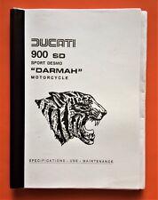 DUCATI DARMAH BEVEL  OWNERS MANUAL JUNE 1979 COPY COVERS EARLY/LATER 1980