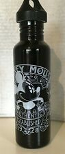 RARE Mickey Mouse Canteen Water Bottle Aluminum Disney Parks Drinking Container