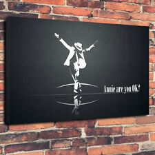 """Michael Jackson Annie Are You Ok Printed Box Canvas Picture A1.30""""x20"""" 30mm Deep"""