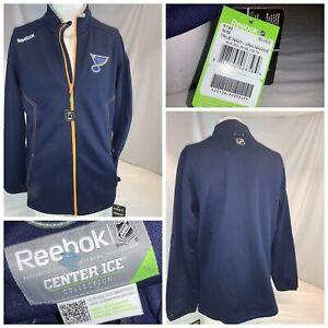 St. Louis Blues Reebok Center Ice Jacket M Men Blue Full Zip NWT YGI J0-254