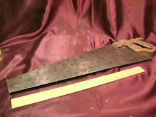 """Vtg Henry Disston & Sons Philadelphia-26"""" Hand Saw-etched wood handle-free ship"""