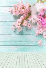 3x5ft Strip Wooden Wall Backdrop Flower Background Photography Vinyl Studio Prop