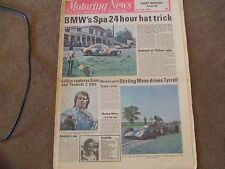 Motoring News 31 July 1975 Spa 24 Hours Tom Pryce Enna F2 Rally Skoda S120S Test