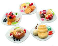 5 Dollhouse Miniatures Pancake & Waffle Food Supply Handcrafted ,Tiny Food
