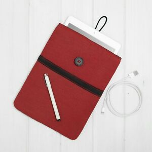 Samsung Galaxy Tab Cover Case Sleeve S7+ A7 S6 S5e with pocket 2020 Red Design