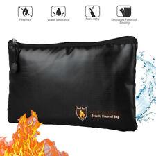 Fireproof Waterproof Money Safe Cash Box Secret Document Bag File Pouch Case