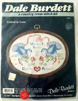 Vintage Dale Burdett United in Love Cross Stitch Kit CK659 wedding doves flowers