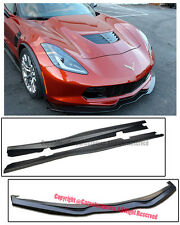 Z06 Z07 Style ABS Side Skirt W/ Front Spoiler Lip For 14-Up Corvette C7 Stingray