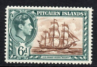 Pitcairn Islands 6d Stamp c1940-51 Mounted Mint (1674)