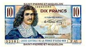 Saint Pierre & Miquelon ... P-23 ... 10 Francs ... ND(1950) ... *UNC*