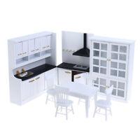 1:12 Dollhouse Miniature Luxury Wooden Kitchen Dinning Room Furniture SetJ *u