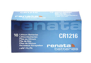 10 x Renata CR1216 Batteries, Lithium Battery 1216   Shipped from Canada