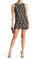 NEW Alice + Olivia Clyde Floral Lace Mini Dress in Black - Size 8 #D2255