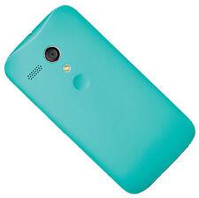 Motorola Genuine OEM Back Door Battery Cover Hard Shell Case for Moto G Cyan Col