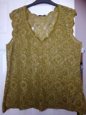 Ladies Size L Oasis Green Sleeveless Top