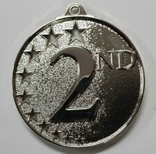 2nd Place 3D embossed 50mm Diameter Medal Inc Neck Ribbon / Engraving