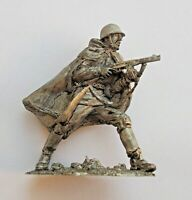 1/32 Soviet USSR WWII Private in Attack Russian Tin Metal Soldier 54mm handmade