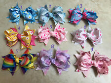 "NEWBORN BABY TODDLER GIRL BOUTIQUE HAIR 4.5"" HAIR BOW CHRISTMAS GIFT STOCKING"