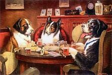 DOGS, POKER DOGS, POST MORTEM ON GAME, BY COOLIDGE, MAGNET