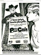 Publicité ancienne papier peint Paul Gruin  1929 Guilhot issue de magazine