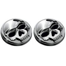 Paire d'emblèmes adhésif Skull bones Kuryakin GF tête de mort moto custom harley
