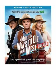 A Million Ways to Die in the West (Unrated Blu-ray + DVD + DIGI... Free Shipping