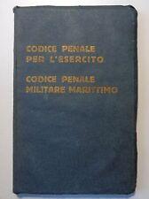 Codice penale per l'esercito Codice penale militare marittimo  primo 900