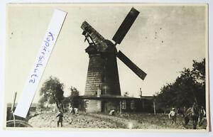 Foto Windmühle windmill Berg bei Muskau Kr. Weißwasser um 1950 !