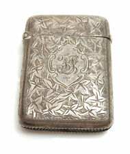 Antique Silver  Vesta Box Birmingham 1894 MR