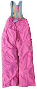 Black Run 9-10 years kids waterproof padded kids winter trousers salopettes