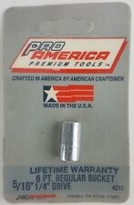 """1/4"""" drive 5/16 Inch 6 point REPLACEMENT SOCKET ProAmerica Premium MADE IN USA"""