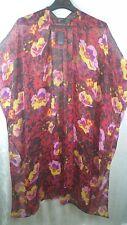 Free Press Accessories One Size Floral Ruana Black Combo Kimono*NWT* Nordstrom