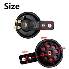 1x Universal Black & Red 12V 100DB Motorcycle Car Truck Waterproof Electric Horn