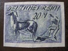 DEUTSCHES REICH Mi. #196U mint no gum imperf stamp! CV $95.00
