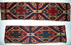 Two extraordinary, antique Shahsavan Moghan Panels in fantastic Colors caa. 1850