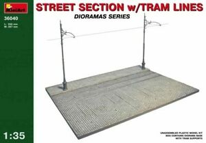 Miniart 1:35 scale model kit  - Street Section with Tram Lines  MIN36040